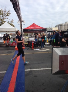 Crossing the Finish line - My first half-marathon!